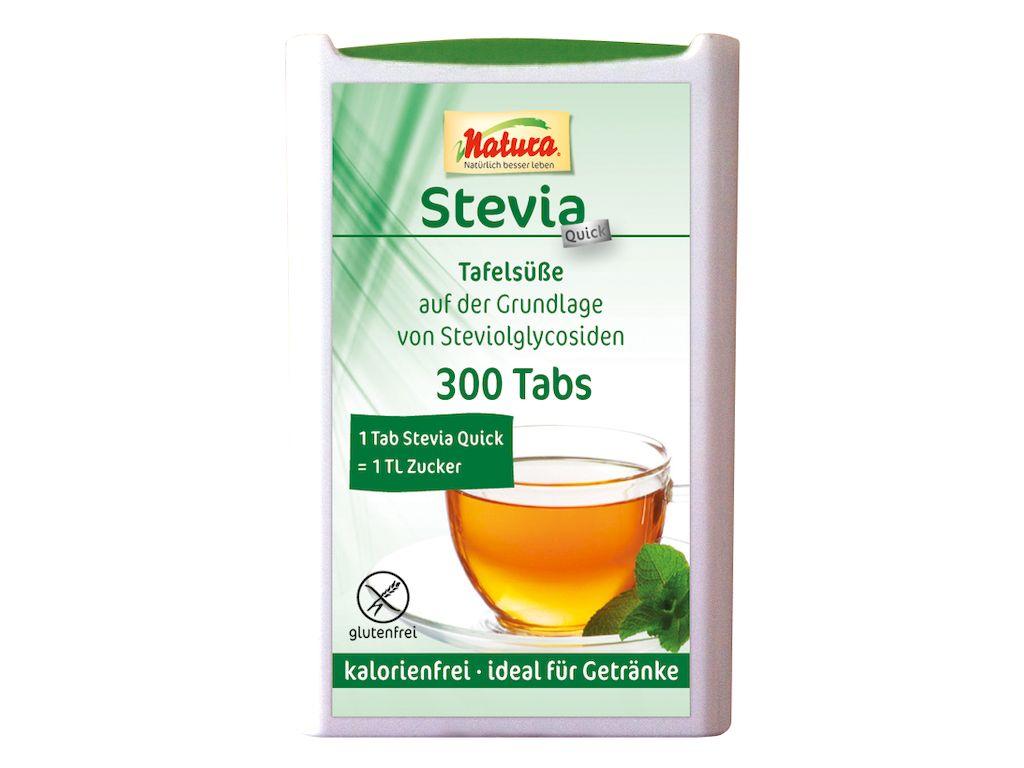 Natura Stevia Quick Tafelsüße (300 Tabs) – Kräuterhaus Klocke
