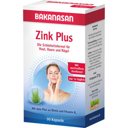 Bakanasan Zink plus Biotin und Vitamin B5 (90 Stück)