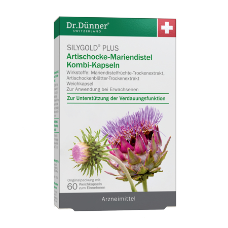 Dr. Dünner Silygold Plus Artischocke-Mariendistel Kombi-Kapseln