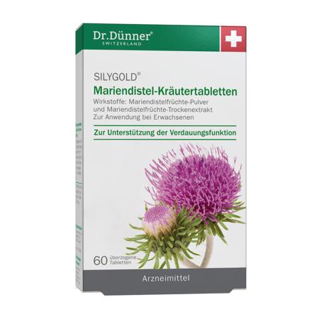 Dr. Dr. Dünner Silygold Mariendistel-Kräutertabletten 60 Stück