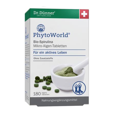 Dr. Dünner Bio-Spirulina Mikro-Algen-Tabletten 180 Stück
