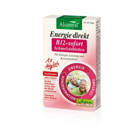 Alsiroyal Energy direkt B12-sofort Schmelztabletten