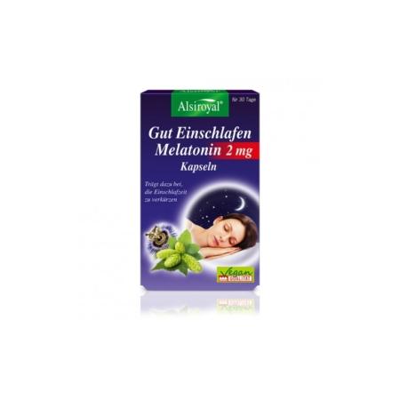 Alsiroyal Gut Einschlafen Melatonin 2 mg Kapseln