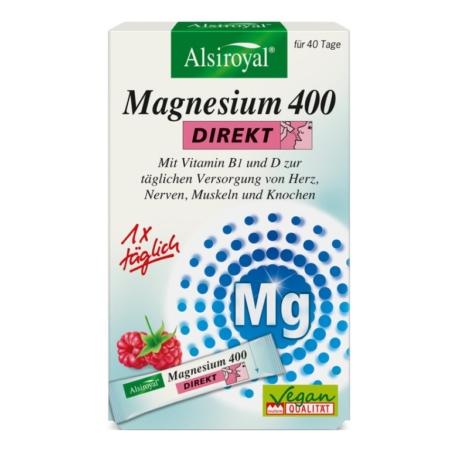 Alsiroyal Magnesium 400 DIREKT Himbeere (40 Sticks)