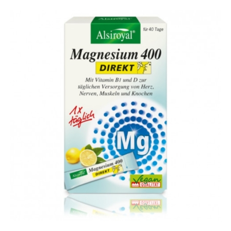 Alsiroyal Magnesium 400 DIREKT Zitrone (40 Sticks)
