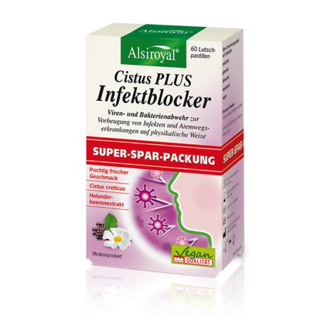 Alsiroyal Cistus PLUS Infektblocker Sparpackung (60 Pastillen)
