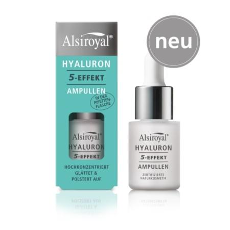 Alsiroyal Hyaluron 5-Effekt Ampullen Pipettenflasche
