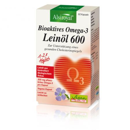 Alsiroyal Bioaktives Omega-3 Leinöl 600 Kapseln