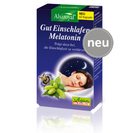 Alsiroyal Gut Einschlafen Melatonin (60 Kapseln)