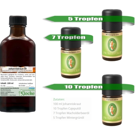 Anti-Schmerzöl zum Selbermischen