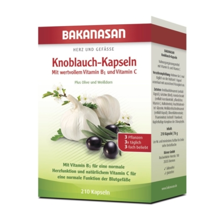 Bakanasan Knoblauch – Kapseln mit Vitamin B1 und C