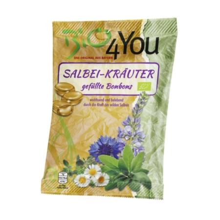 Bio4You Salbei-Kräuter Bonbons gefüllt