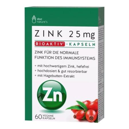 doc natures´s Zink 25mg Bioaktiv-Kapseln (60 Kapseln)