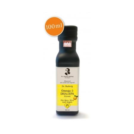 Dr. Budwig's Omega-3 DHA + EPA mit Zitrone Leinöl (100ml)
