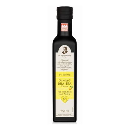 Dr. Budwig's Omega-3 DHA + EPA mit Zitrone Leinöl