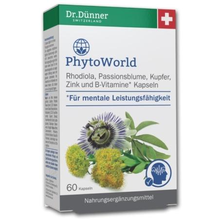 Dr Duenner Phytoworld Rhodiola Passionsblume 60 Kapseln