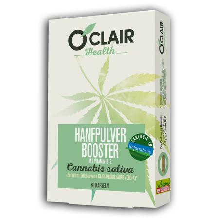 O'CLAIR Health Hanfpulver-Booster (30 Kapseln)