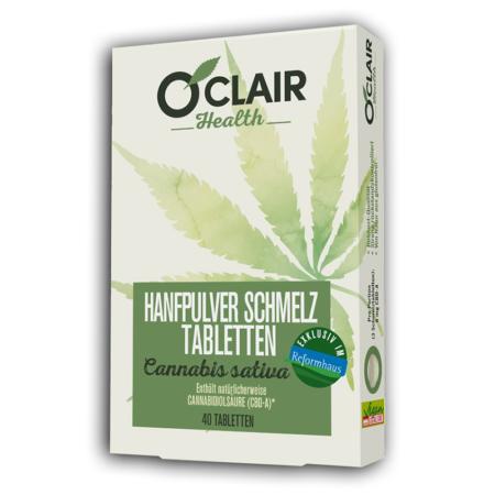 O'CLAIR Health Hanfpulver-Schmelztabletten (40 Stück)