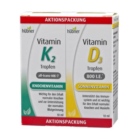 Hübner Vitamin K2 und D3 Tropfen Aktionspackung