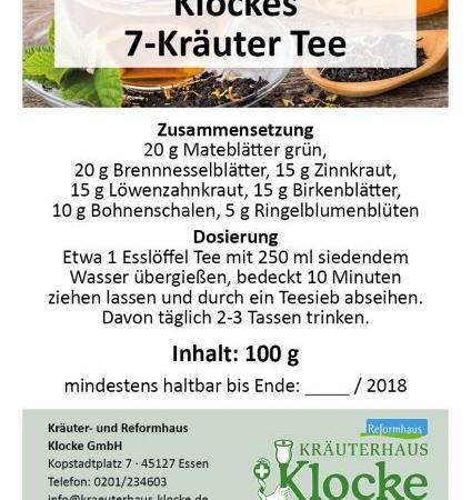 Klockes 7-Kräuter Tee