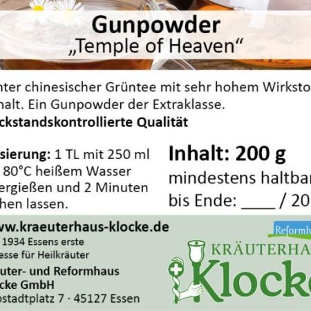 "Klockes Gun Powder Tee ""Temple of Heaven"""