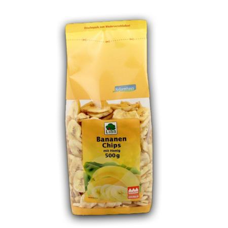 Lihn Bananenchips mit Honig (450g)