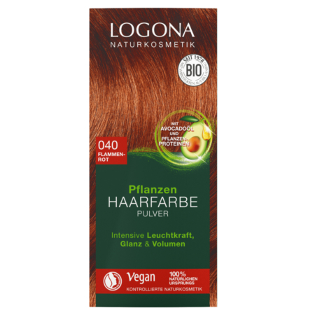 Logona Pflanzen-Haarfarbe Pulver 040 flammenrot
