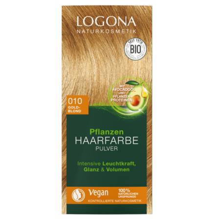Logona Pflanzen-Haarfarbe Pulver 010 goldblond