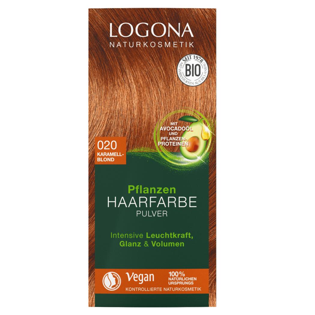 Logona Pflanzen Haarfarbe Pulver 020 Karamellblond Krauterhaus Klocke