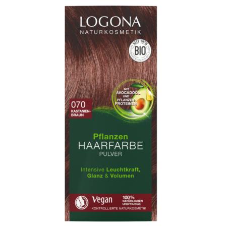 Logona Pflanzen-Haarfarbe Pulver 070 kastanienbraun