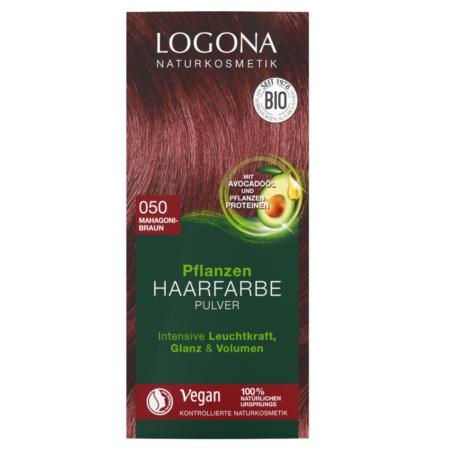 Logona Pflanzen-Haarfarbe Pulver 050 mahagonibraun