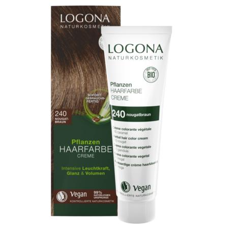 Logona Pflanzen-Haarfarbe Creme 240 nougatbraun