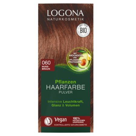 Logona Pflanzen-Haarfarbe Pulver 060 nussbraun