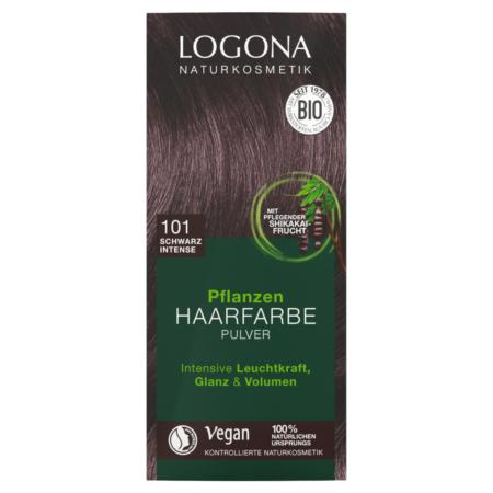 Logona Pflanzen-Haarfarbe Pulver 101 schwarz intense