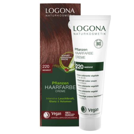 Logona Pflanzen-Haarfarbe Creme 220 weinrot