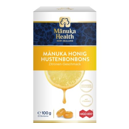 Manuka Honig MGO400+ Lutschbonbons mit Zitrone