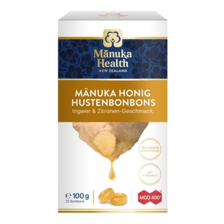 Manuka Honig MGO400+ Lutschbonbons Ingwer & Zitrone (100g)