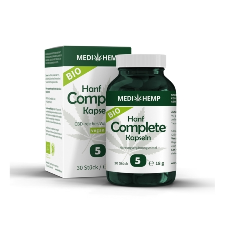 MediHemp Bio Hanf Complete Kapseln 5% (30 Stück)
