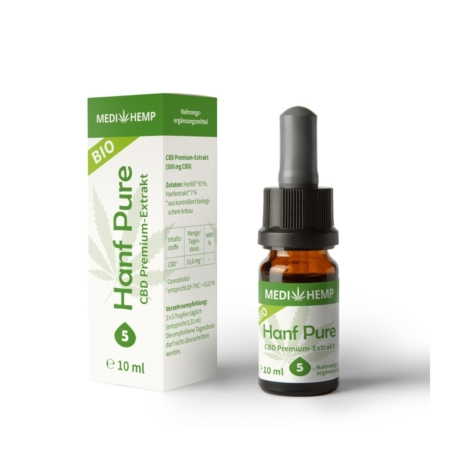 MediHemp Bio Hanf Pure 5% (10ml)