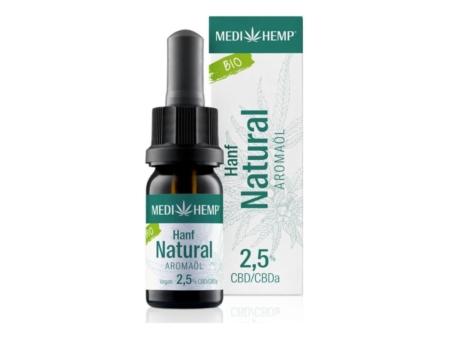 Medihemp Hanf Natural Aromaöl bio 2,5% (10ml)