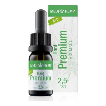 Medihemp Hanf Premium Aromaöl bio 2,5% (10ml)