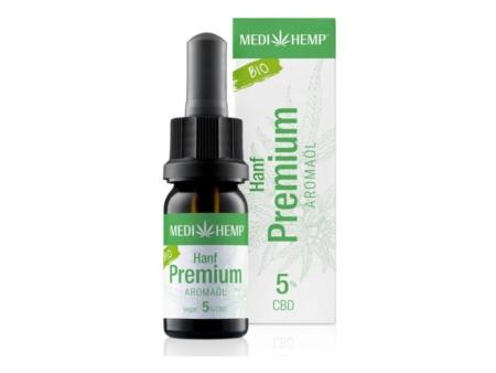Medihemp Hanf Premium Aromaöl bio 5% (10ml)