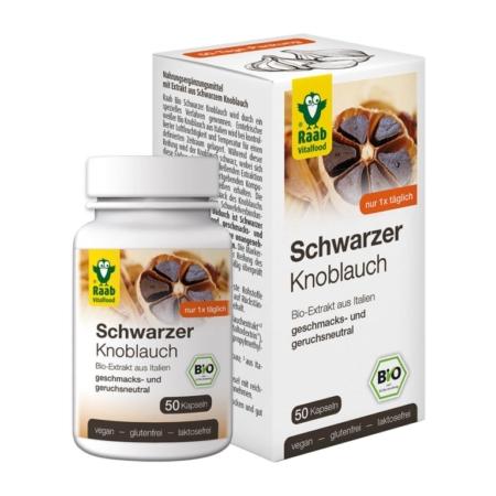 Raab Bio Schwarzer Knoblauch Kapseln (50 Stück)