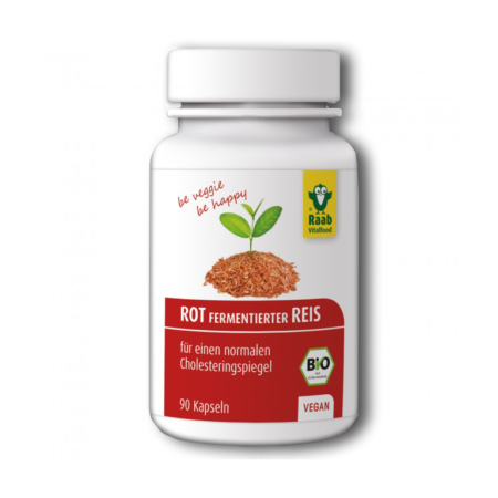 Rot fermentierter Reis Kapseln Bio