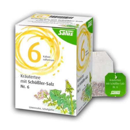 Salus Kräutertee mit Schüßler-Salz Nr 6 (15 Filterbeutel)
