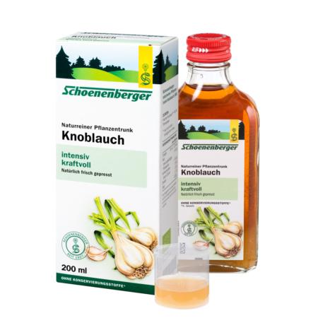 Schoenenberger naturreiner Pflanzentrunk Knoblauch