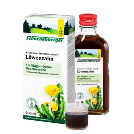 Schoenenberger naturreiner Heilpflanzensaft Löwenzahn