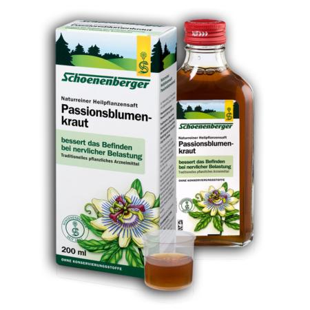 Schoenenberger naturreiner Heilpflanzensaft Passionblumenkraut